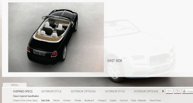 2017 Rolls-Royce DAWN Inspired Specification Samples gif