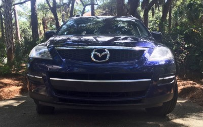 BEFORE - Mazda CX-9 DIY CF Nose Wrap 1