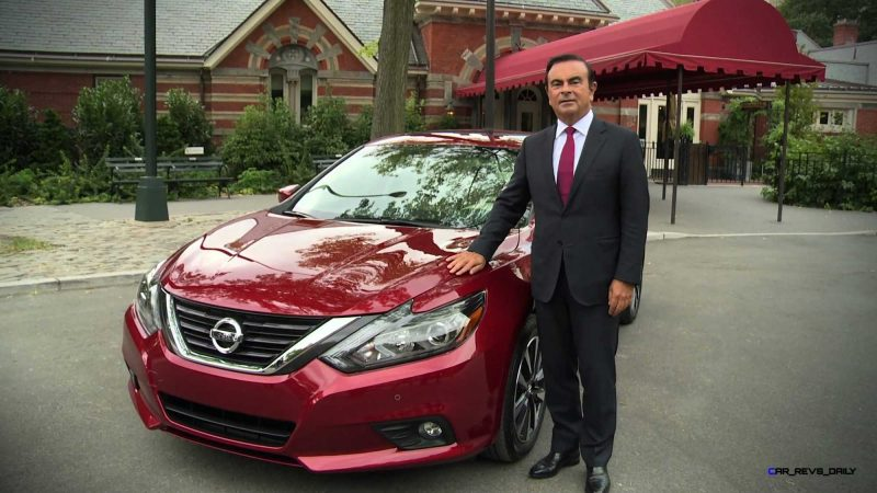Nissan chairman and CEO Carlos Ghosn reveals new 2016 Altima in