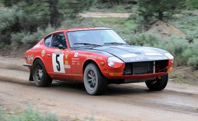 Brian Scott drives the 1971 Datsun 240Z up the Grimes Creek Stage during the 2012 Idaho Rally in Placerville, ID on June 9, 2012. (Robby Milo/http://rmilo.com)