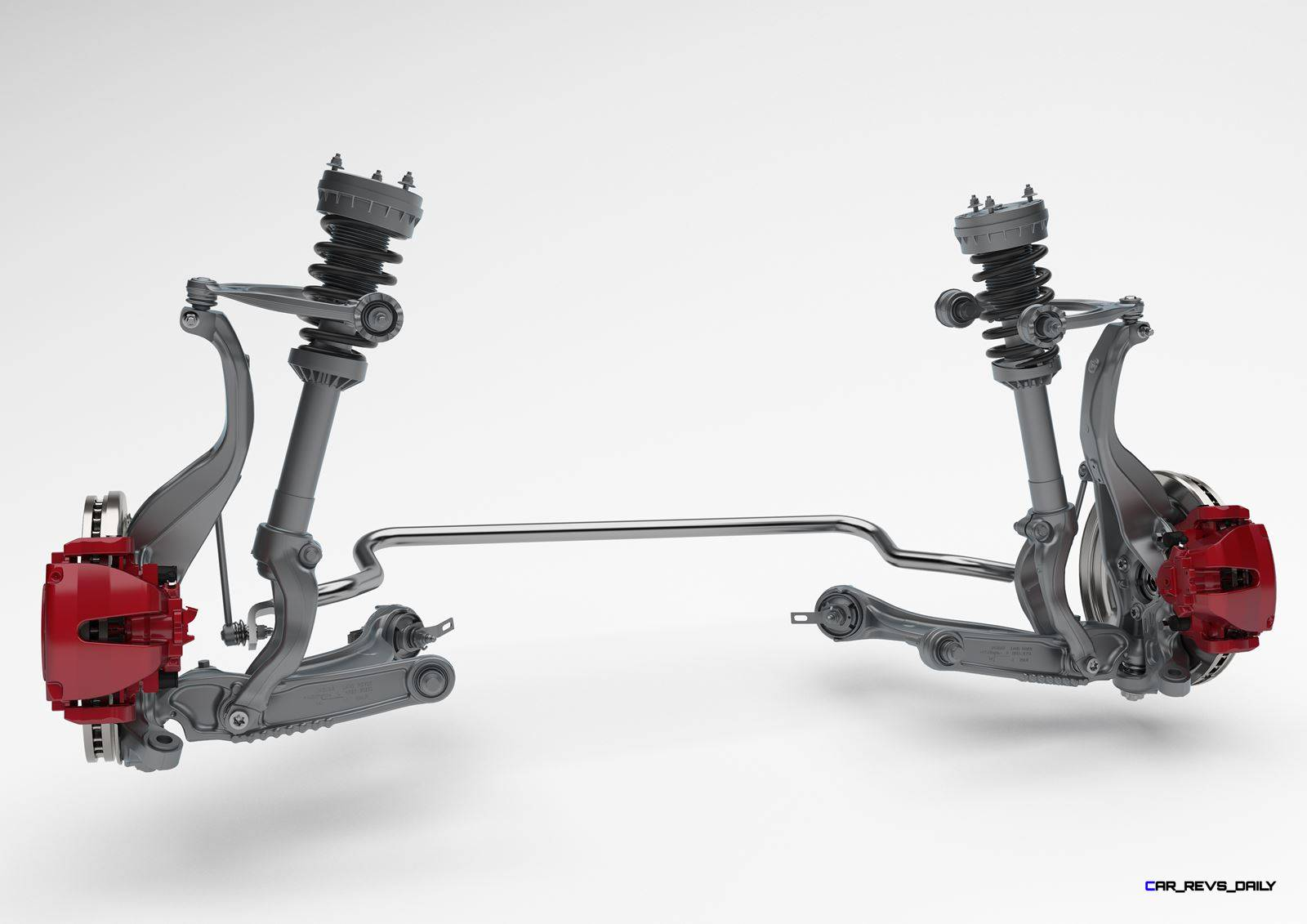 Jag fpace double wishbone front suspension tech image for Suspension double