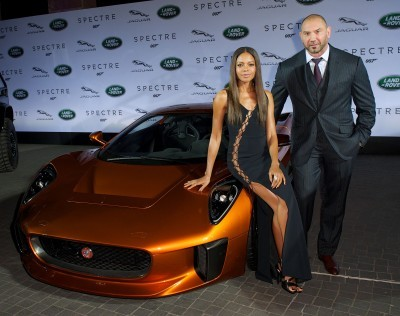Jaguar Land Rover put on a star studded event for the global reveal of company's vehicles to be used in the upcoming Bond instalment, SPECTRE Frankfurt, Germany