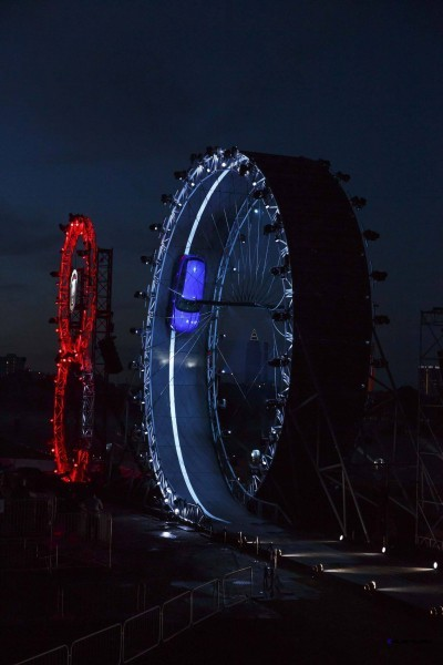 ###   - HANDOUT - FREE TO USE -   ###  13/09/15.  JAGUAR F-PACE LOOP REVEAL  JAGUAR CELEBRATES 80TH YEAR BY REVEALING THE NEW F-PACE TO GLOBAL AUDIENCE, BREAKING THE GUINNESS WORLD RECORD OF LARGEST LOOP THE LOOP DRIVE IN A CAR, DRIVEN BY TERRY GRANT, AHEAD OF MOTOR SHOW DEBUT IN FRANKFURT.  CREDIT: DAVID SHEPHERD.  ###   - HANDOUT - FREE TO USE -   ###