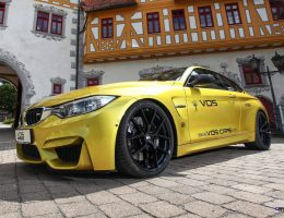 2015 BMW M4 by VOS-CARS.de Adds 120HP, Clubsport KW Chassis and Akrapovic Exhaust