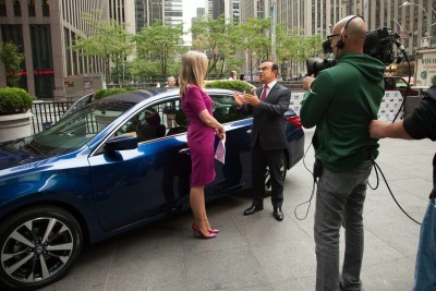 NEW YORK (Sept. 22, 2015) – Nissan chairman and CEO Carlos Ghosn today previewed the new 2016 Nissan Altima during a series of business media appearances in New York City.