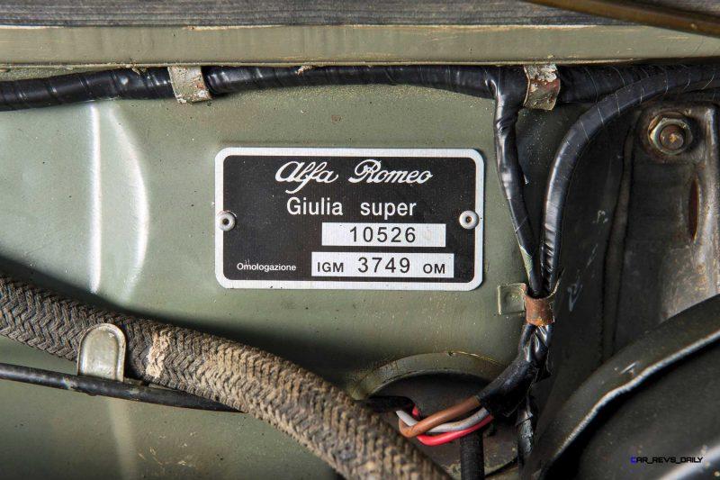 1966 Alfa Romeo Giulia Super POLIZIA SQUADRA VOLANTE 22