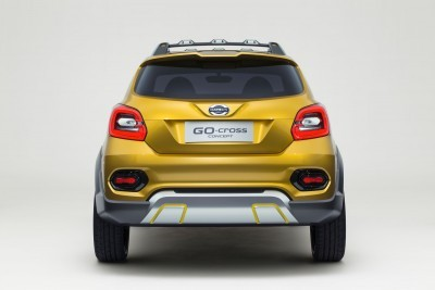 The Datsun GO-cross Concept showcases the brand's vision for possible expansion of the Datsun GO/GO+ family in high growth markets. The concept investigates the market potential of a cross-over with spirit and a sense of adventure. It's a car that fully handles the day-to-day routine yet still has plenty left for holidays or weekend fun.