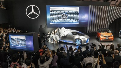 """World premiere for the Mercedes-Benz Vision Tokyo – Japanese premieres for the GLE and smart: Mercedes-Benz and smart are staging a rich celebration of innovation at the 44th Tokyo Motor Show. One of the highlights of the show is the world premiere of the Vision Tokyo design show car. The """"urban transformer"""" embodies another trailblazing space concept from Mercedes-Benz which reflects the brand's growing appeal to a younger clientele."""