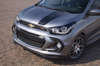 Spark RS concept: Built to showcase dynamic appearance of the all-new, 2016 Chevrolet Spark, this concept applies the sporty RS treatment that has distinguished Camaro, Sonic and Cruze production models.