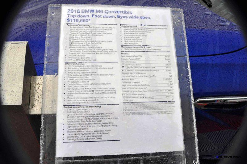 2016 BMW M6 Convertible - San Merino Blue 21