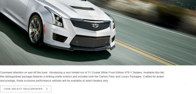 Cadillac Creates 99-unit Exclusive - V-Series Crystal White Frost Editions of ATS-V and CTS-V Cadillac Creates 99-unit Exclusive - V-Series Crystal White Frost Editions of ATS-V and CTS-V Cadillac Creates 99-unit Exclusive - V-Series Crystal White Frost Editions of ATS-V and CTS-V