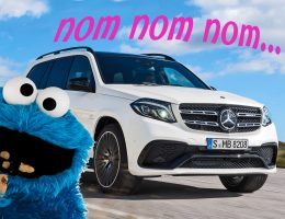2017 Mercedes-AMG GLS 63 vs Cookie Monster: Battle of the NomNomNoms