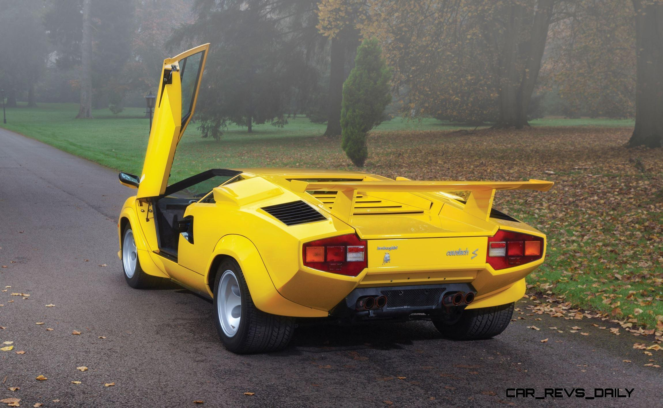 Rm Paris 2016 1981 Lamborghini Countach Lp400s Series Iii In Iconic Sunflower Yellow
