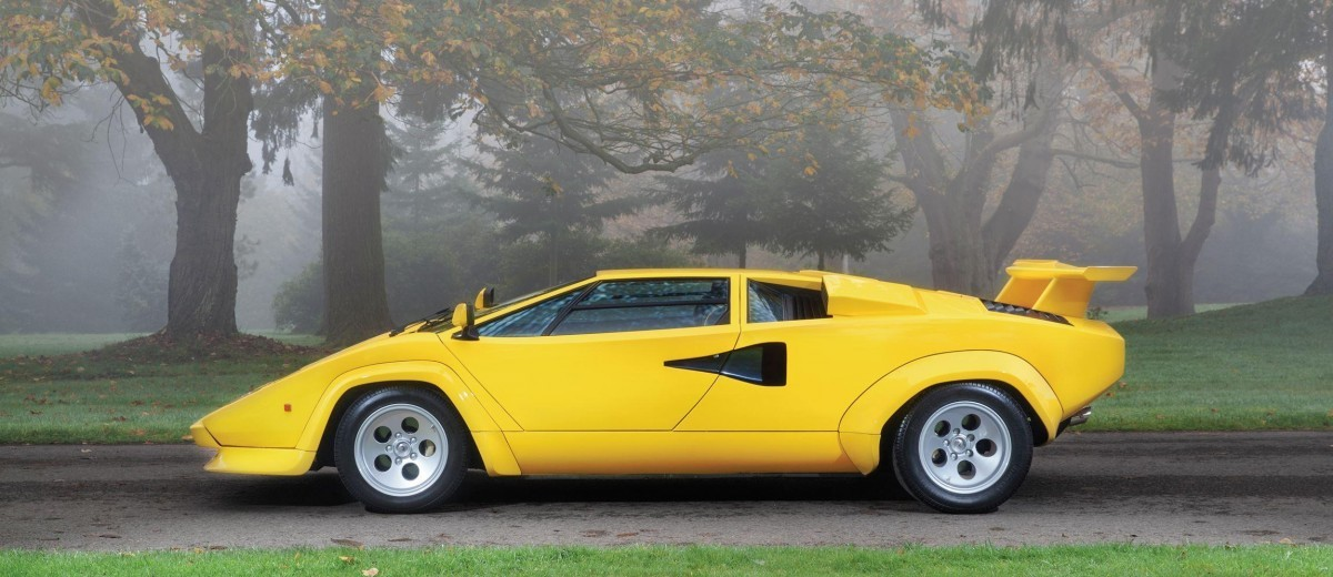 rm paris 2016 1981 lamborghini countach lp400s series iii in iconic sunflower yellow car. Black Bedroom Furniture Sets. Home Design Ideas