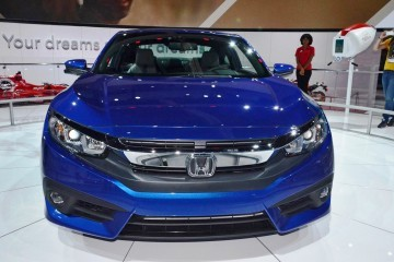 2016 Honda CIVIC Coupe Reveal - Big Style, Power from First-Ever Turbo Engine Option