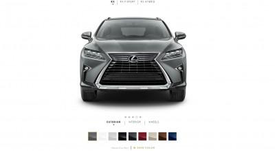 2016 Lexus RX Colors 1