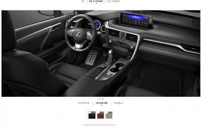 2016 Lexus RX F Sport interiors 1