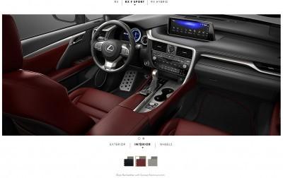 2016 Lexus RX F Sport interiors 2