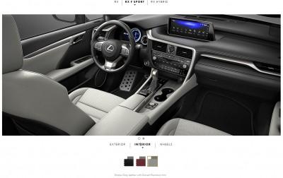 2016 Lexus RX F Sport interiors 3