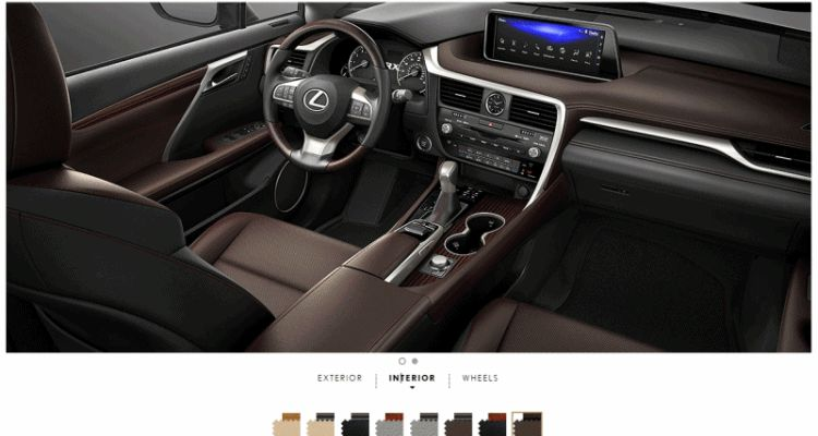 2016 Lexus RX interiors