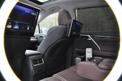 2016 Lexus RX350 Interior Noble Brown Sapele Wood 16