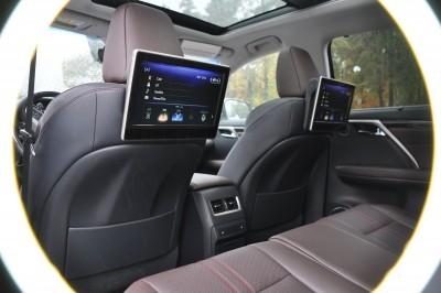 2016 Lexus RX350 Interior Noble Brown Sapele Wood 8