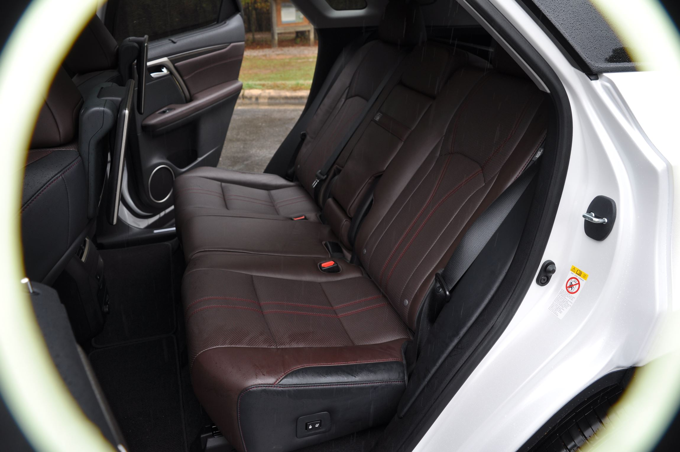 2016 lexus rx350 interior noble brown sapele wood 9. Black Bedroom Furniture Sets. Home Design Ideas