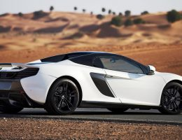 2016 McLaren 650S Spider Al Sahara 79 by MSO is White Gold Custom for Dubai Auto Show