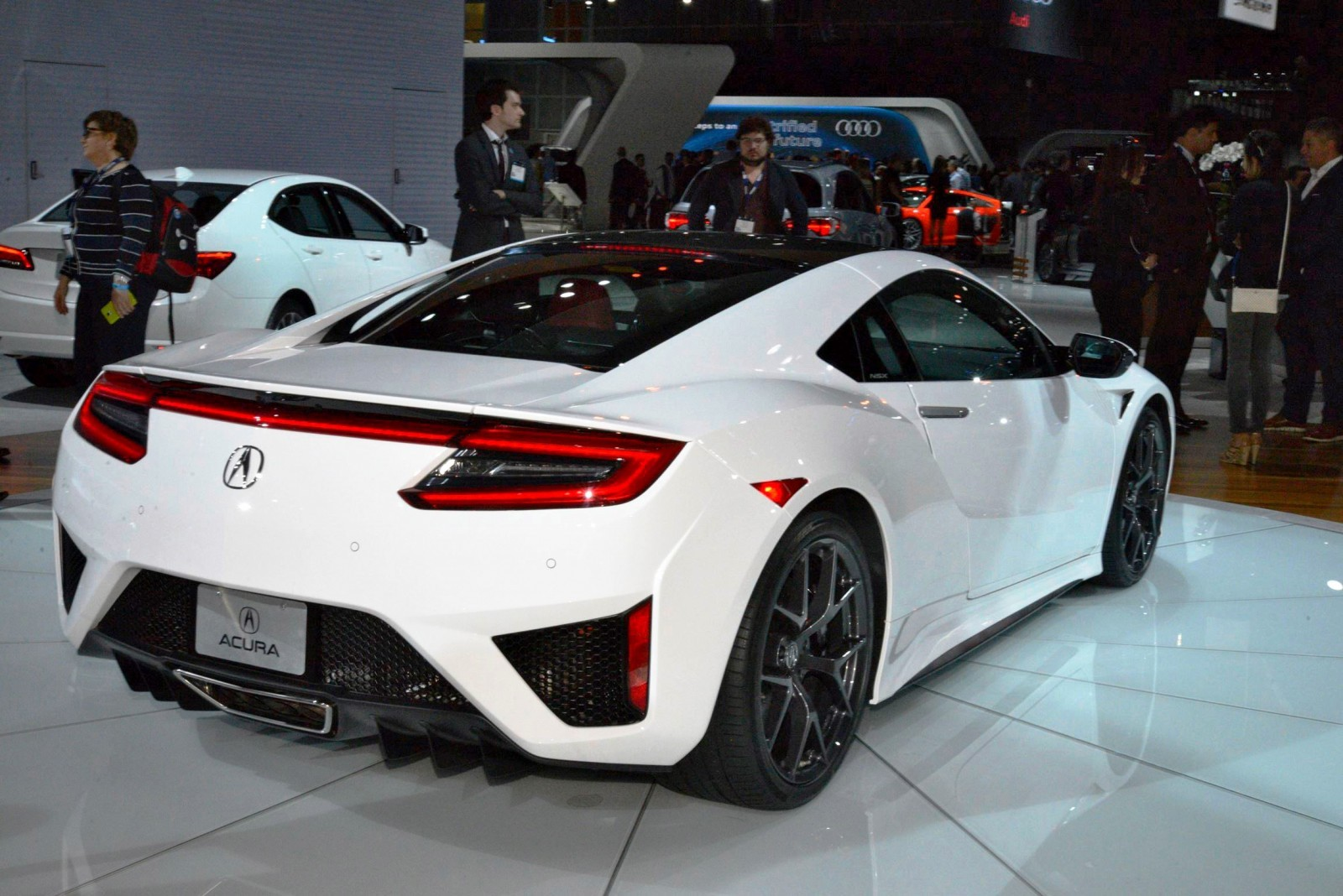 2017 Acura NSX white 2