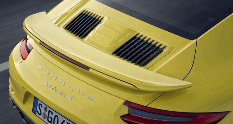 911 turbo s rear spoiler animation
