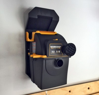 Emerson WORKSHOP 5HP Portable Wall Mount WetDry Vac 10