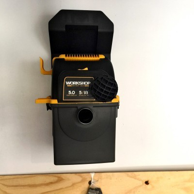 Emerson WORKSHOP 5HP Portable Wall Mount WetDry Vac 11