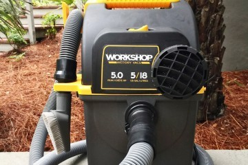 Emerson WORKSHOP 5HP Portable Wall Mount WetDry Vac 25