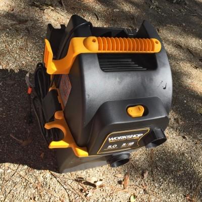 Emerson WORKSHOP 5HP Portable Wall Mount WetDry Vac 5
