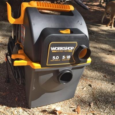 Emerson WORKSHOP 5HP Portable Wall Mount WetDry Vac 7