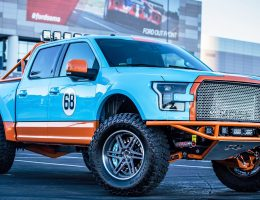 Ford SEMA 2015 Custom TRUCKS – Galpin F-150 in Gulf Racing Livery Is Best of Group