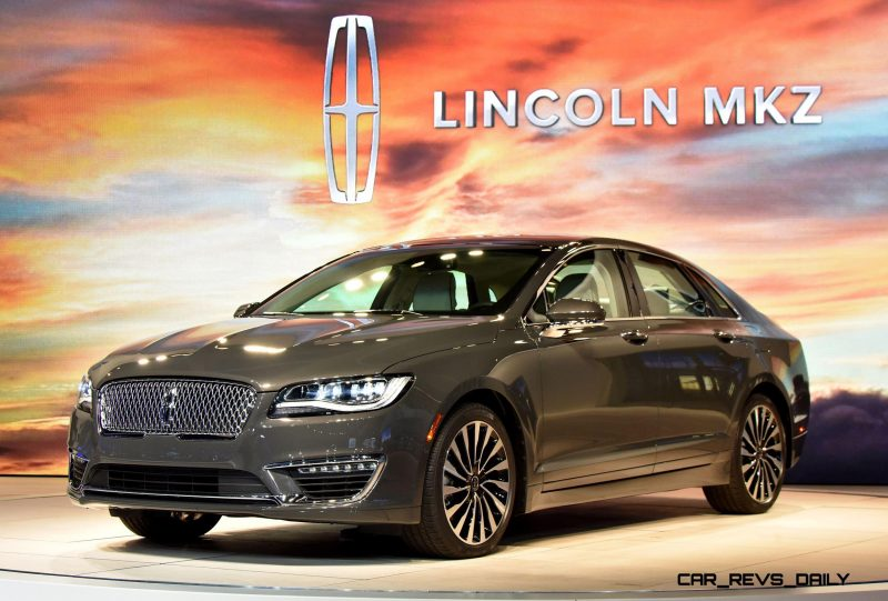 LOS ANGELES, CA. Nov. 18, 2015--Lincoln reveals a newly designed MKZ today at the Los Angeles International Auto Show (LAIAS) focusing on areas most desired by today's luxury midsize sedan customer – quality, performance and style. The new MKZ is powered by a Lincoln exclusive 400 hp,3.0-liter GTDI V6 engine. Photo by: Sam VarnHagen