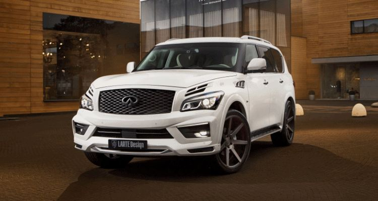 LARTE DESIGN 2016 Infiniti QX80 Missuro - White led demo 2