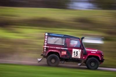 Land Rover Defender Challenge 2015.  Tempest Rally, Farnborough, England.   7th November 2015.   Photo: Drew Gibson.