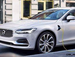 2017 Volvo S90 Reveals Slinky New Limo Shape, 400HP T8 PHEV Drivetrain