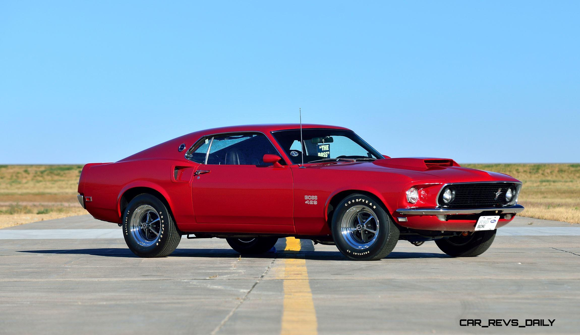 mecum 2016 musclecars 1969 ford mustang boss 429 fastback in candyapple red. Black Bedroom Furniture Sets. Home Design Ideas
