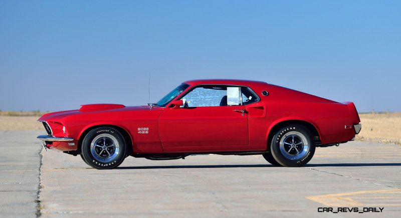 1969 Ford Mustang Boss 429 Fastback in Candyapple Red 2