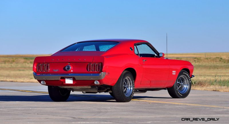 1969 Ford Mustang Boss 429 Fastback in Candyapple Red 3