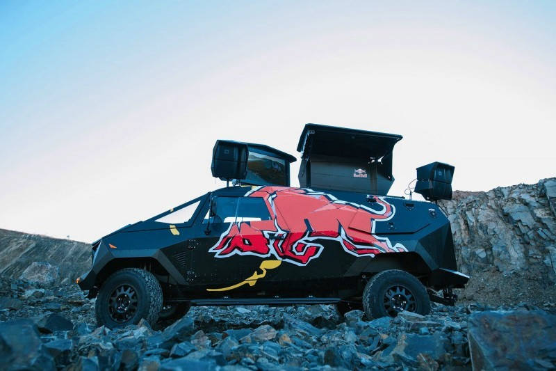 2015 South African RED BULL Concept Truck is Defender 130 APC 16