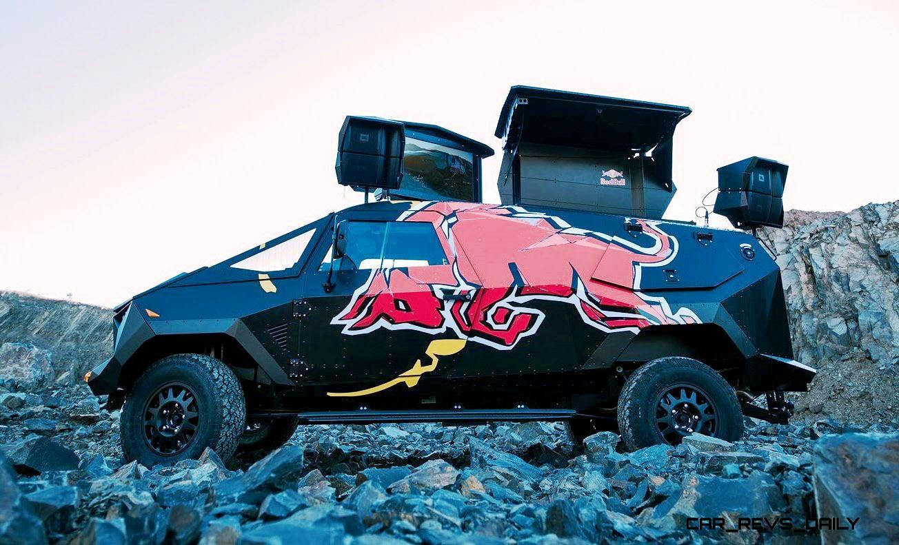 2015 south african red bull concept truck is defender 130. Black Bedroom Furniture Sets. Home Design Ideas