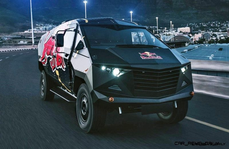 2015 South African RED BULL Concept Truck is Defender 130 APC 5