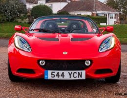 4.2s 2016 Lotus ELISE 220 Is Quickest Ever!  USA Arrivals in March; No Fatties T-Shirt Optional