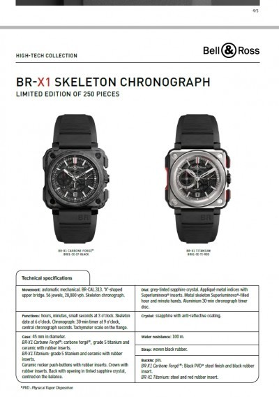 Bell & Ross BR-X1 Presspack Pages 12