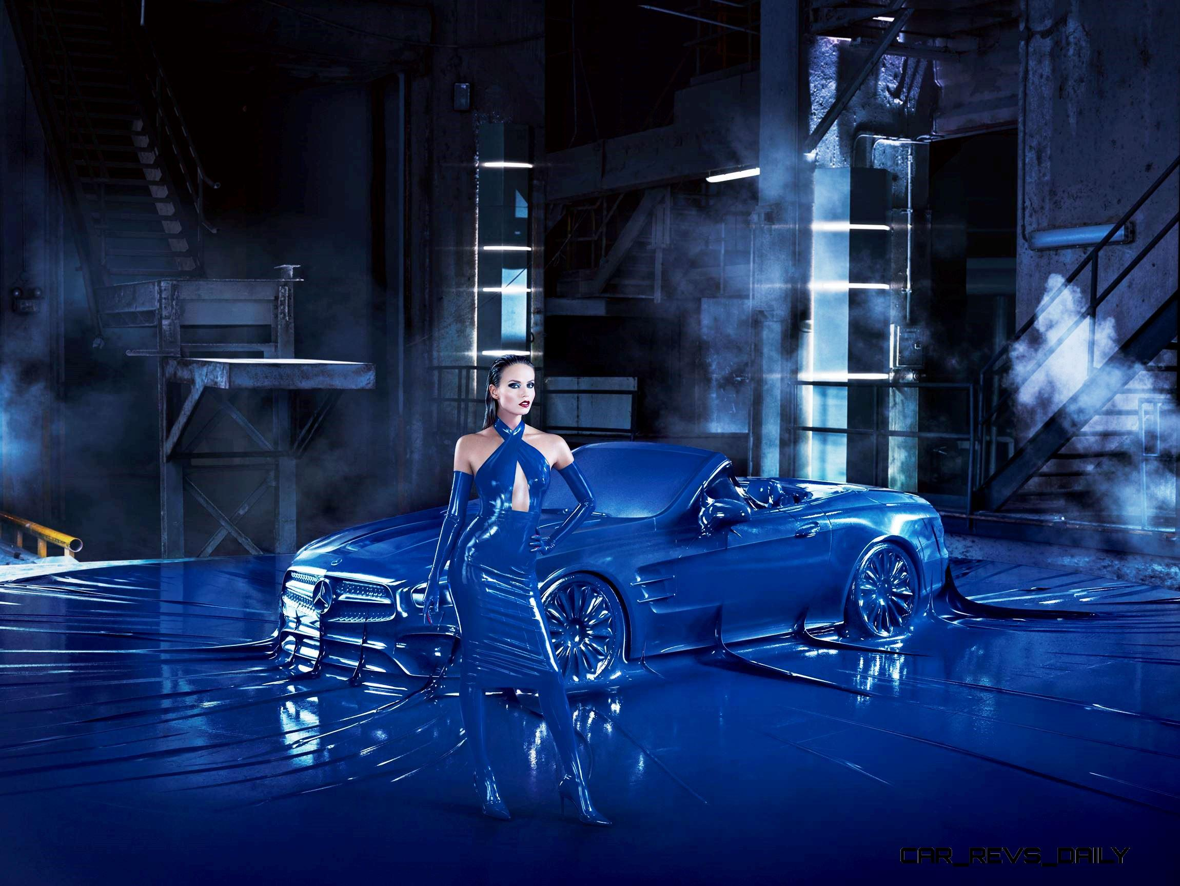 Wtf Mercedes Bags Up Supermodel And 2017 Sl In Giant