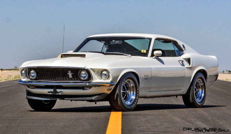 mecum 2016 musclecars 1969 ford mustang boss 429 fastback in wimbledon white. Black Bedroom Furniture Sets. Home Design Ideas